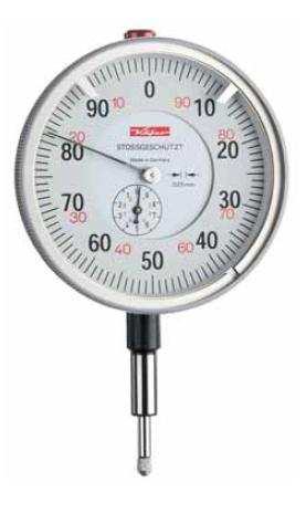 Mechanický úchylkoměr 0,1/0,01/10-100 mm s velkým číselníkem